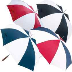 "48"" Auto Open Navy/White Umbrella"