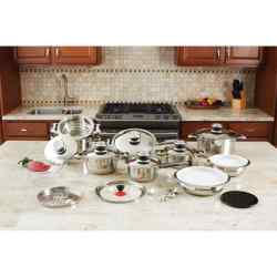 Wholesale 28pc 12-Element Stainless Steel Cookware Set for sale at bulk cheap prices!