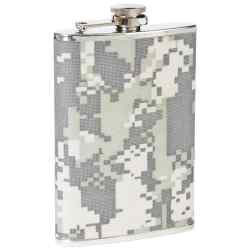 Wholesale 8oz Flask with Digital Camo Wrap for sale at  bulk cheap prices!