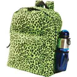 Wholesale Neon Green Leopard Print Backpack for sale at  bulk cheap prices!