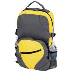 Wholesale Extreme Pak Yellow Poly Backpack for sale at  bulk cheap prices!