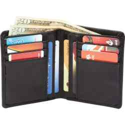 Wholesale Lambskin Leather Bi-Fold Wallet for sale at bulk cheap prices!