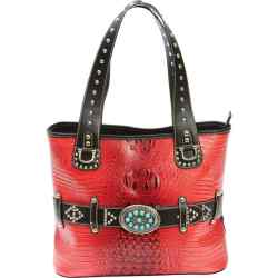 Wholesale Turquoise Buckle Red Purse for sale at  bulk cheap prices!