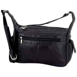 Wholesale Leather Purse with 3 Zippered Compartments for sale at bulk cheap prices!