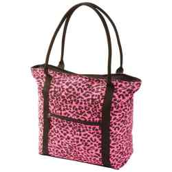 Wholesale Neon Pink Leopard Print Shopping Tote for sale at  bulk cheap prices!