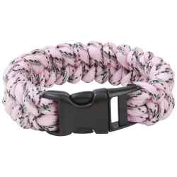 "Wholesale 8"" Pink Camo Paracord Bracelet for sale at bulk cheap prices!"