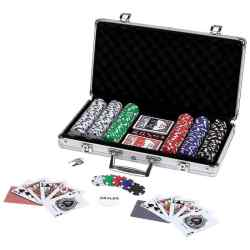 309pc Poker Chip Set in Aluminum Case