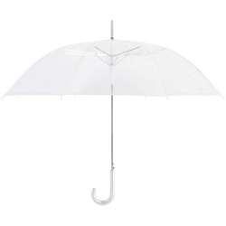 """Cloak 46"""" Auto Open Clear Wedding Umbrella in Bulk"""