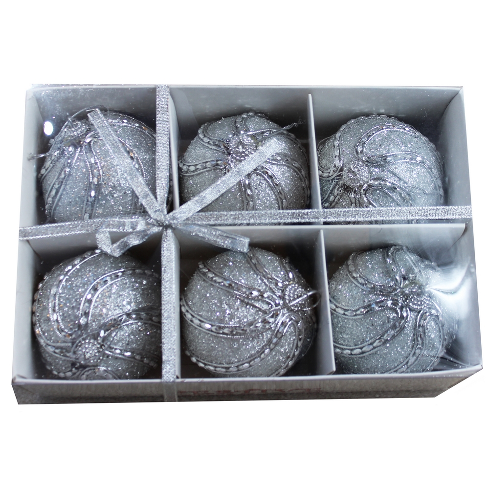 Wholesale christmas ball ornaments cheap christmas ball silver jewels christmas ball ornaments jeuxipadfo Images