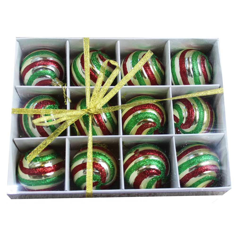 Wholesale pk mm shatterproof green gold red ornaments