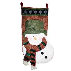 60 giant country style snowman stocking