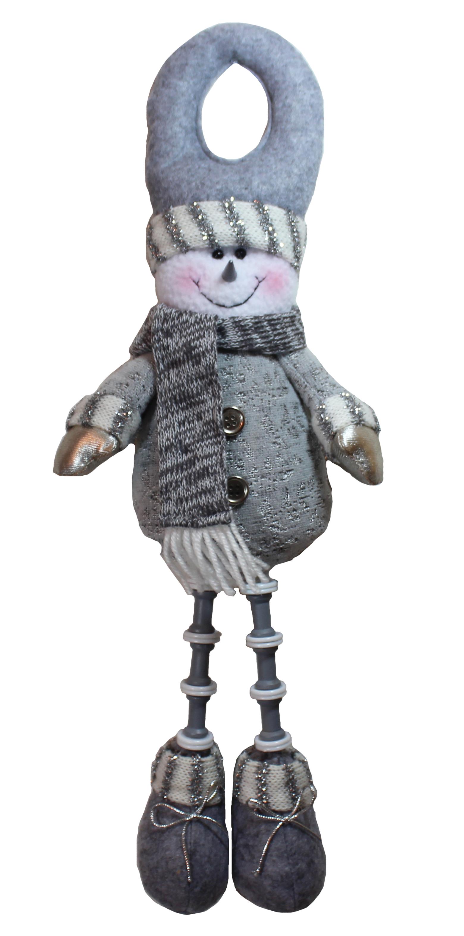Silver Christmas Snowman DOORKNOB Hanger
