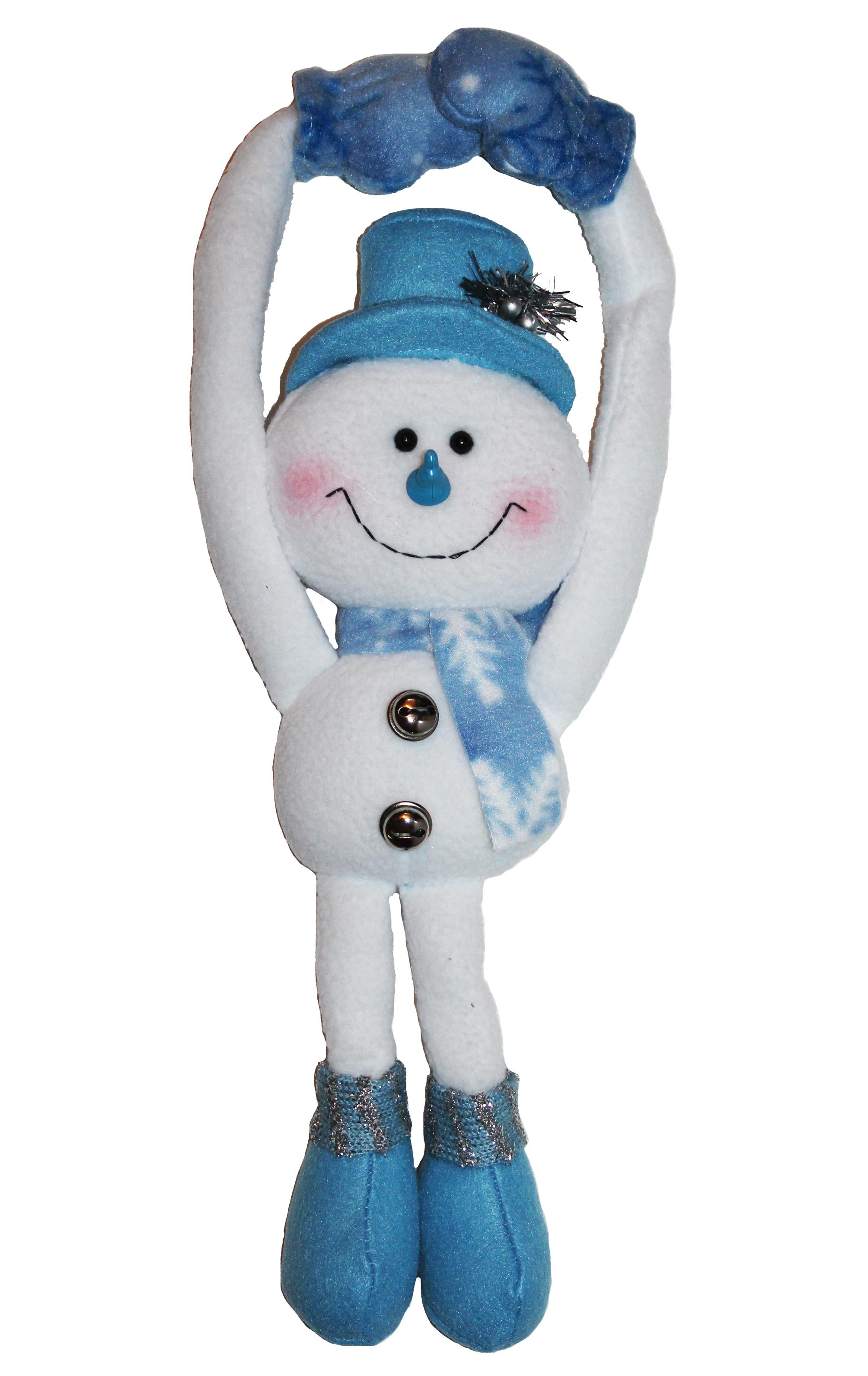 Blue Christmas Snowman DOORKNOB Hanger