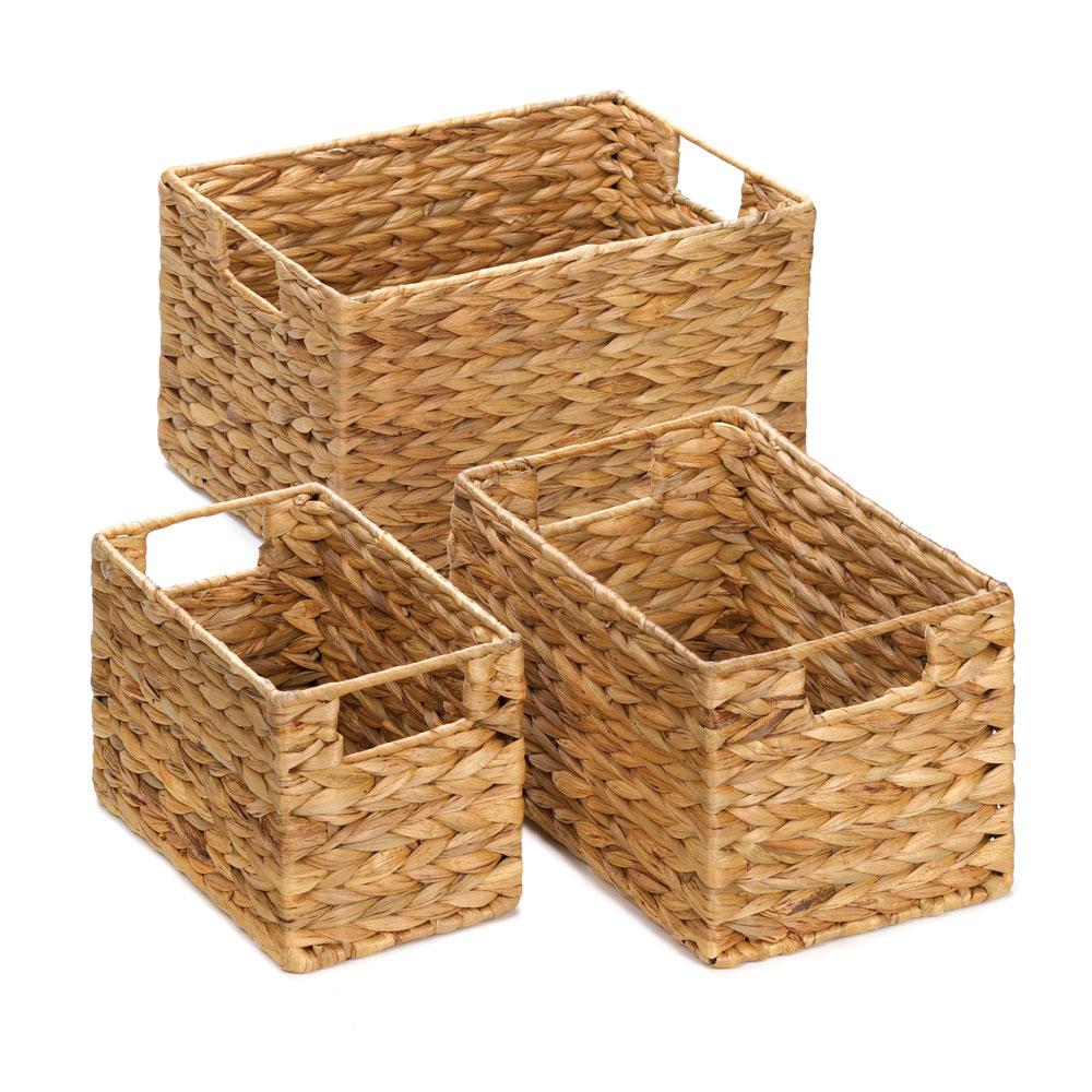 Buy Coniston Wicker Storage Basket: Wholesale Rectangular Nesting Baskets