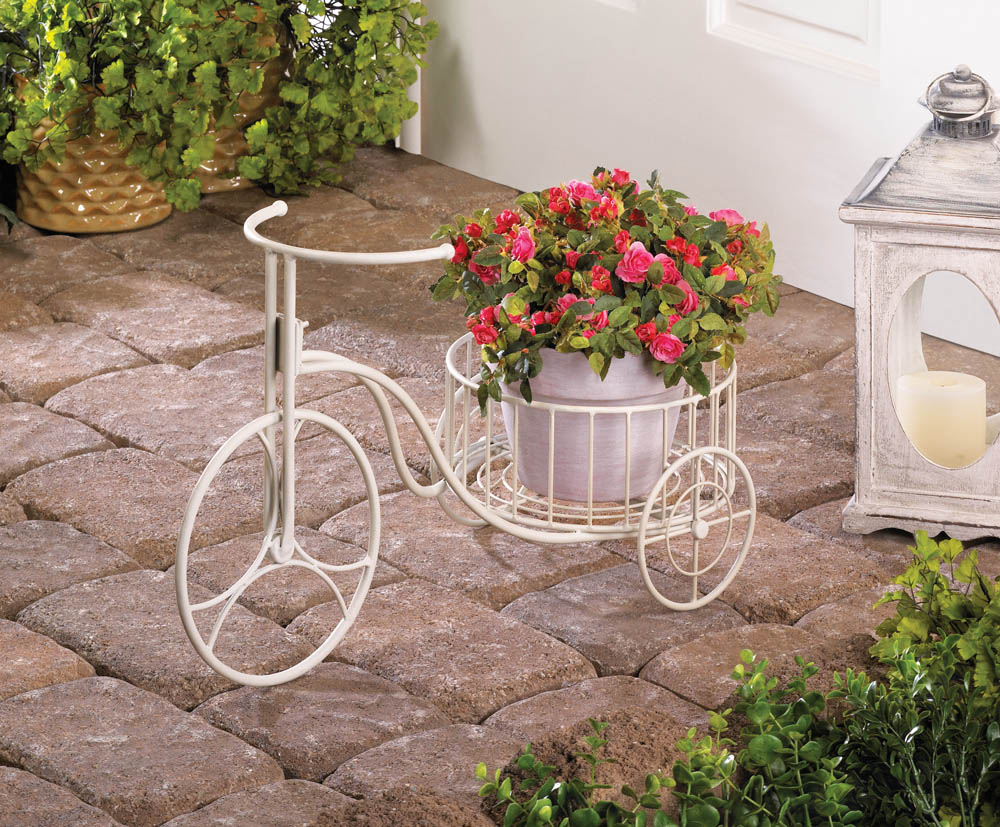 Wholesale White Tricycle Planter