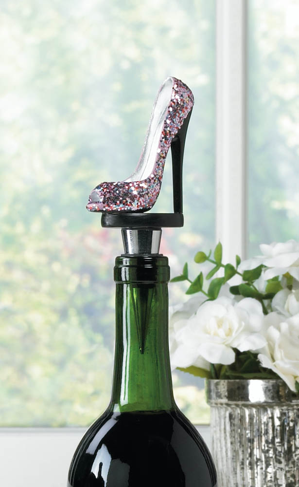 Wholesale glitter shoe wine bottle stopper buy wholesale for Decor international wholesale