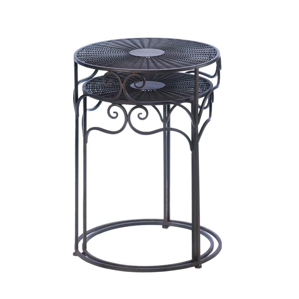 Rattan Nesting Tables ~ Wholesale umber wicker round nesting tables buy
