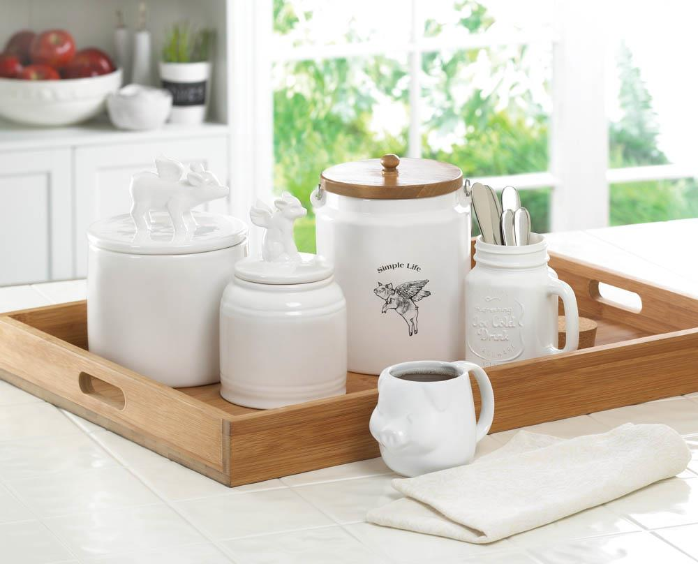 Wholesale Flying Pig Small Canister - Buy Wholesale Kitchen Decor