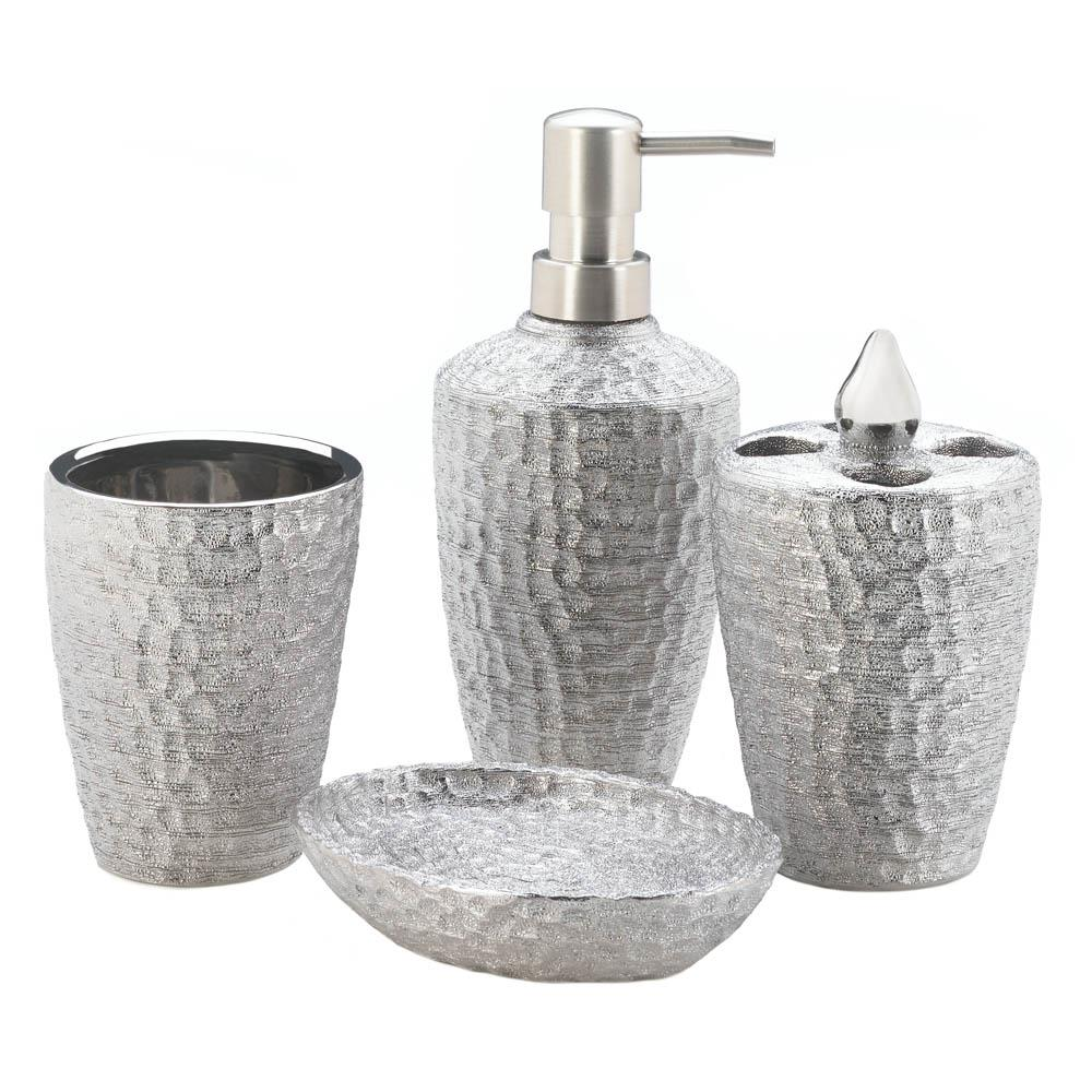 Wholesale Hammered Silver Texture Bath Accessories - Buy Wholesale ...