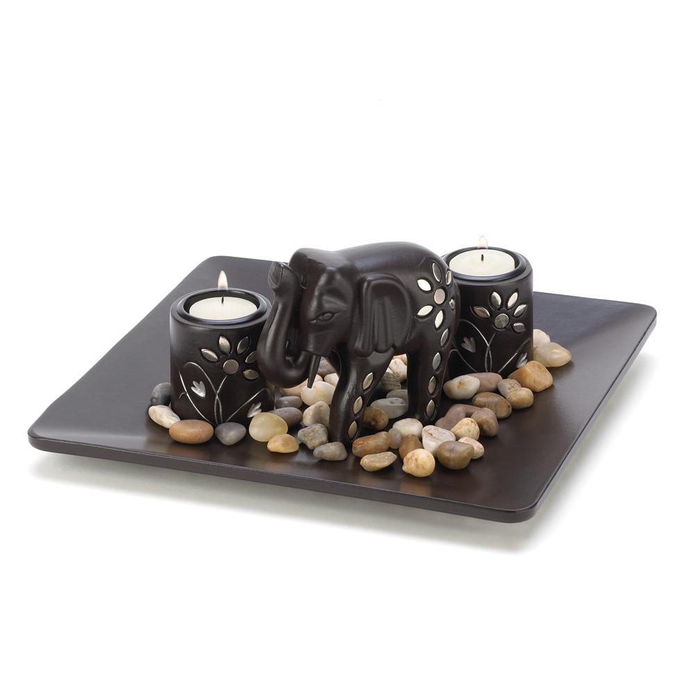 Elephant Candleholder Set - 14587