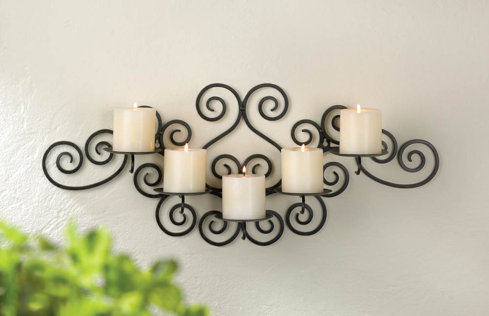 Wholesale Wrought Iron Swirl Wall 5candle Holder Buy Rhwholesalemart: Wrought Iron Home Decor At Home Improvement Advice