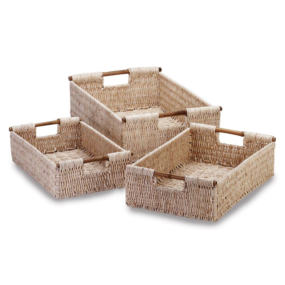 Wholesale Woven Corn Husk Nesting Baskets - Buy Wholesale Baskets