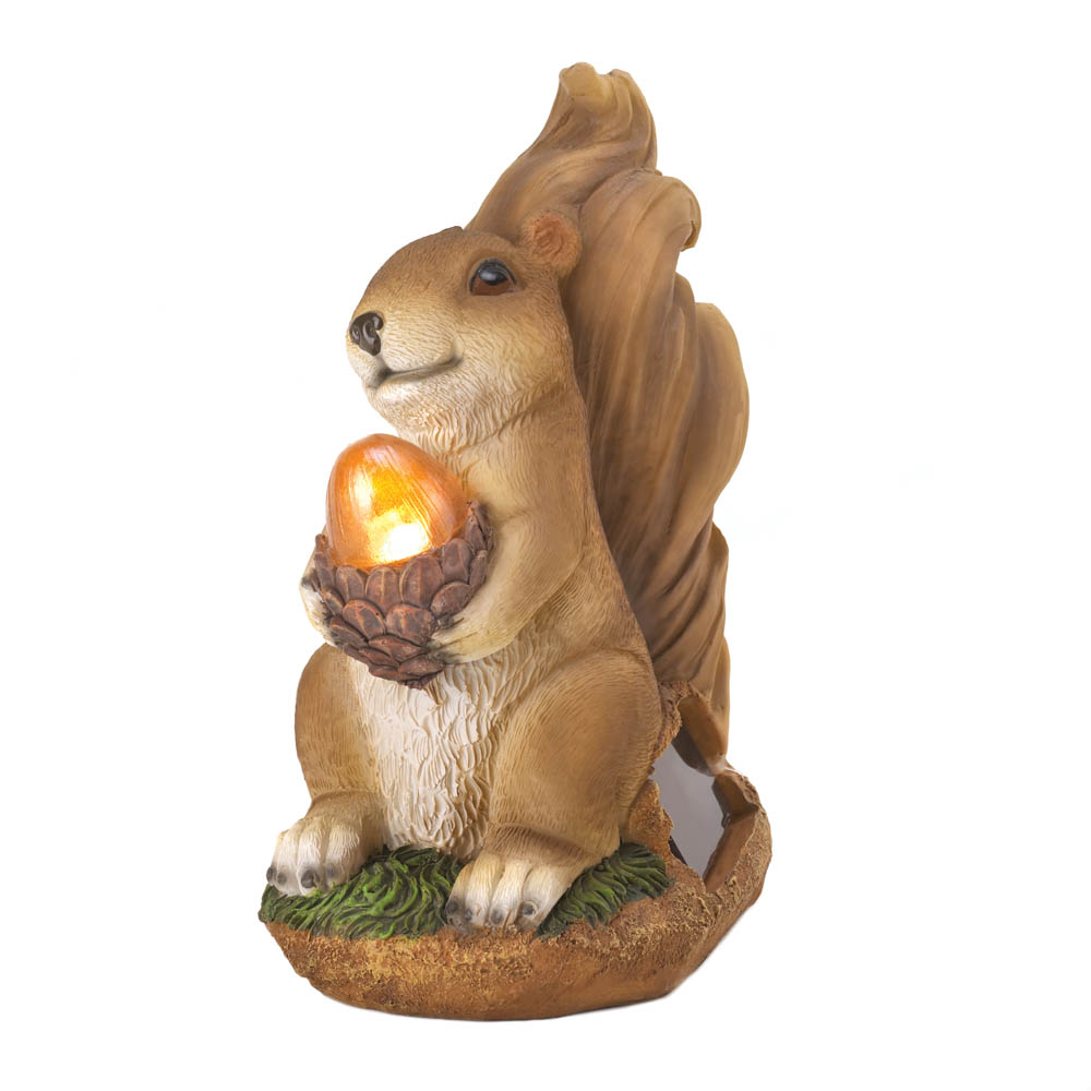 wholesale squirrel solar statue buy wholesale garden statues. Black Bedroom Furniture Sets. Home Design Ideas