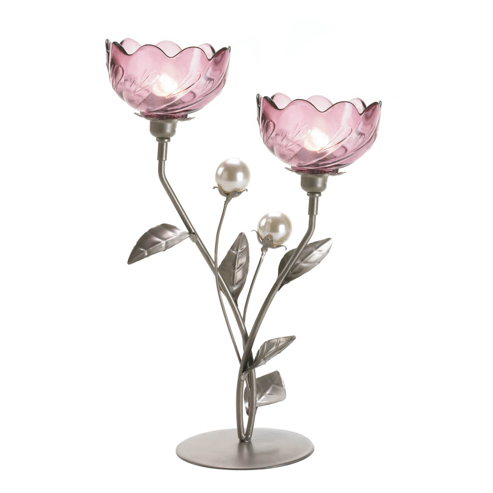 Mulberry Blooms Candleholder - 10016364 · Mulberry Blooms Candleholder - 10016364 & Wholesale Mulberry Blooms Candleholder - Buy Wholesale Candle Holders