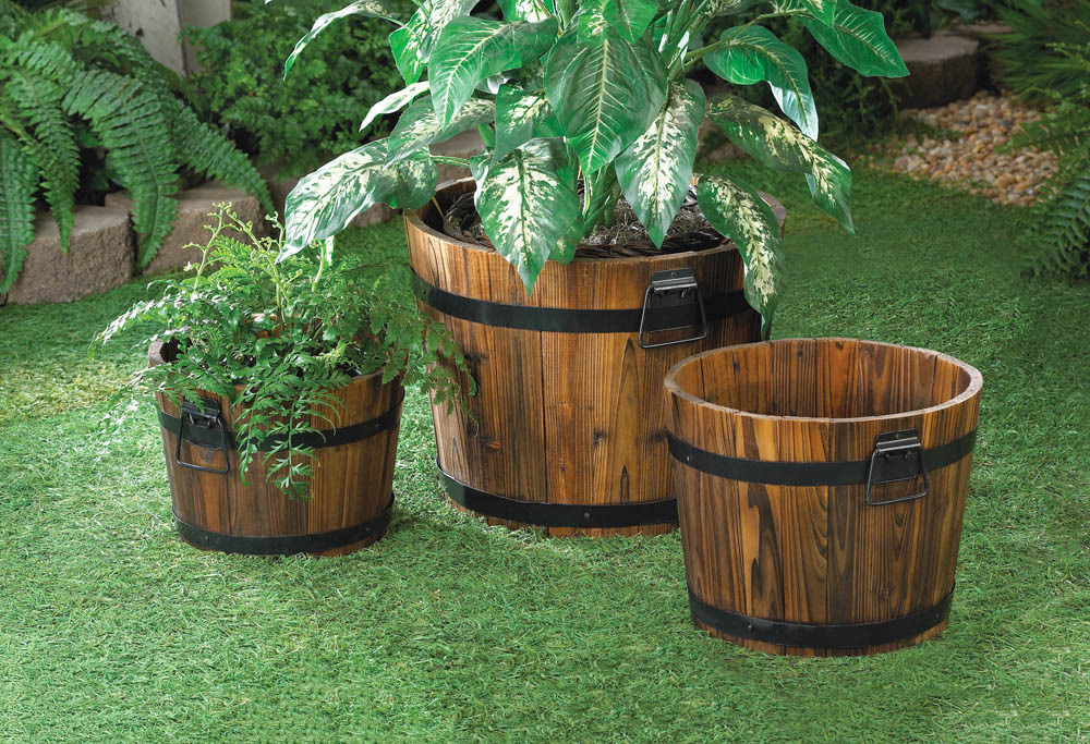 Wholesale apple barrel planter trio buy wholesale garden for Garden planters