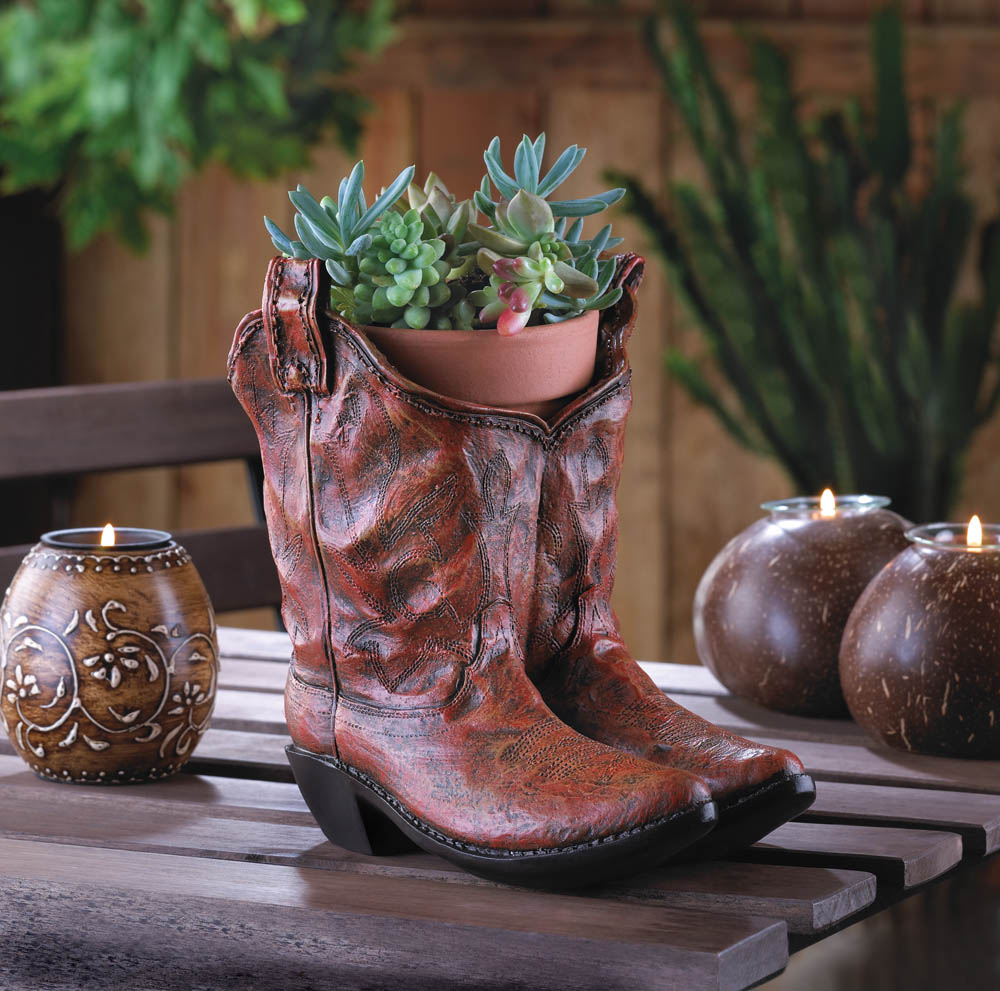 Wholesale Cowboy Boots Planter - Buy Wholesale Garden Planters