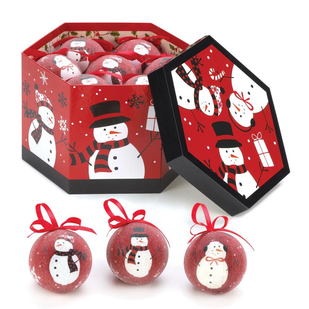 Wholesale Happy Snowmen Ornament Set for sale at  bulk cheap prices!