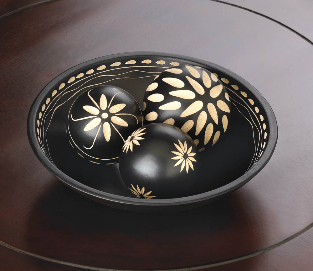 Wholesale ebony decorative ball set buy wholesale home for Wholesale home decor