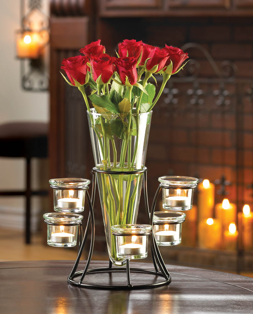 Circular Candle Stand With VASE
