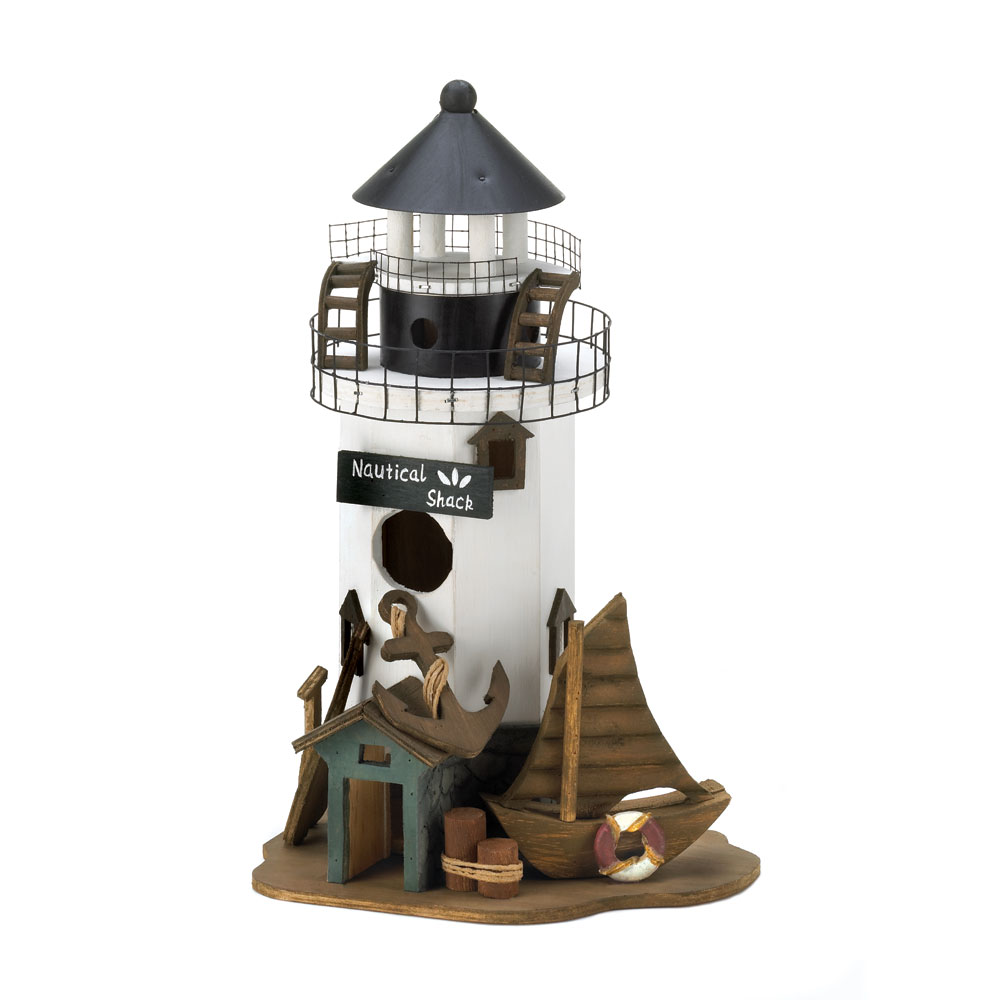 Wholesale Nautical Shack Birdhouse for sale at bulk cheap prices!