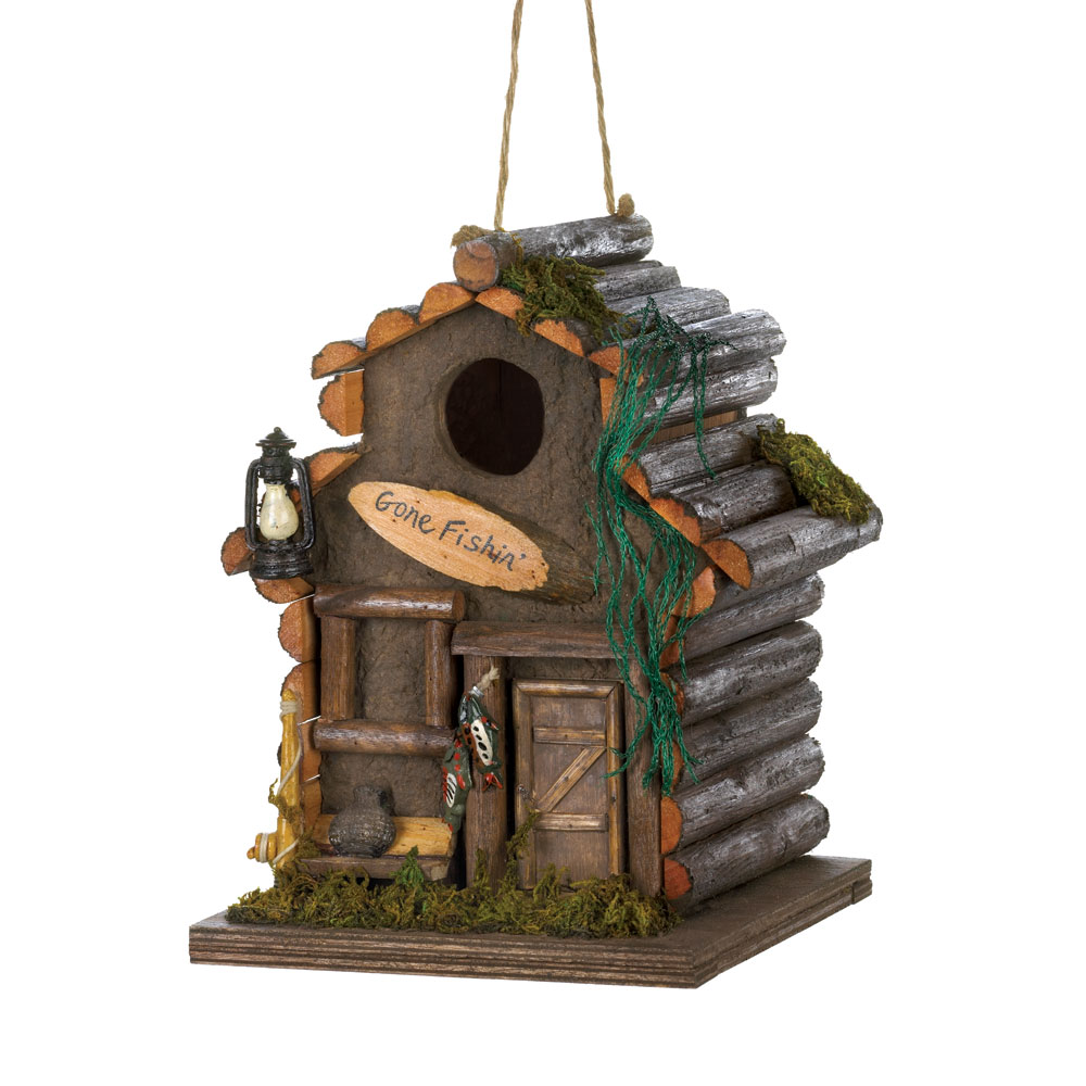 Wholesale Fishing Cabin Birdhouse for sale at  bulk cheap prices!
