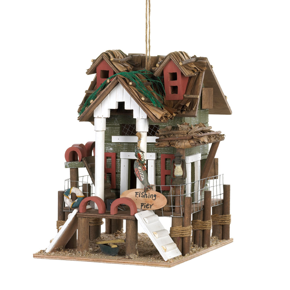 Wholesale Fishing Pier Birdhouse for sale at  bulk cheap prices!