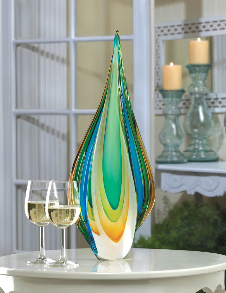 Wholesale Cool Flame Art Glass Statue Buy Wholesale