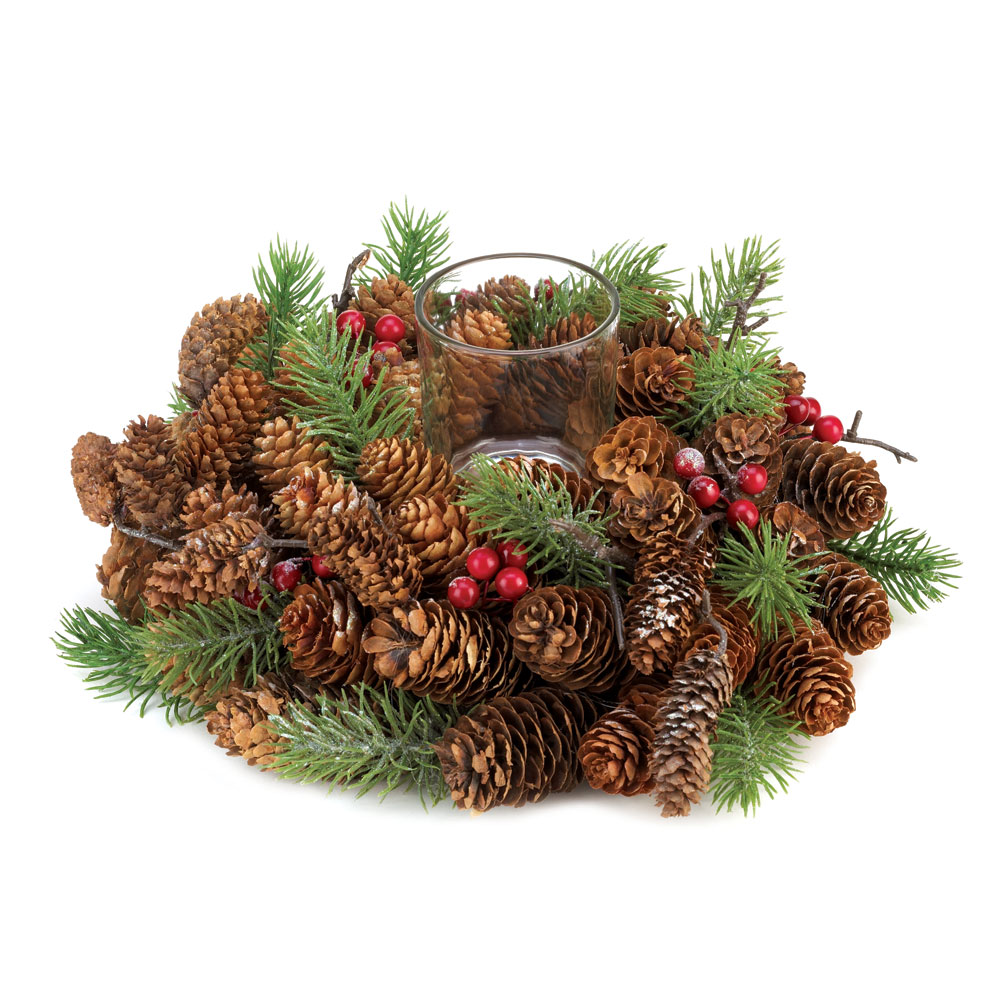Wholesale pine cone wreath candleholder buy wholesale for Cheap decorative items
