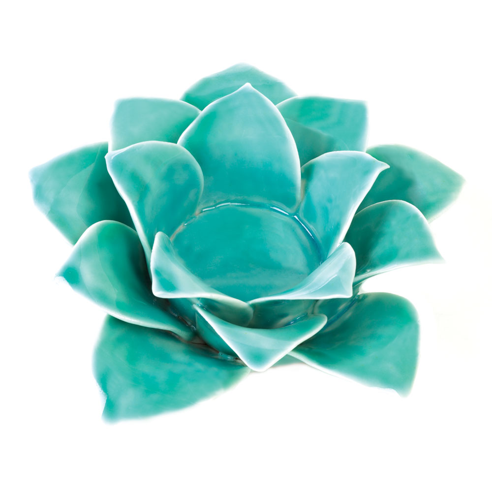Wholesale Blue Lotus Candleholder Buy Wholesale Candle Holders