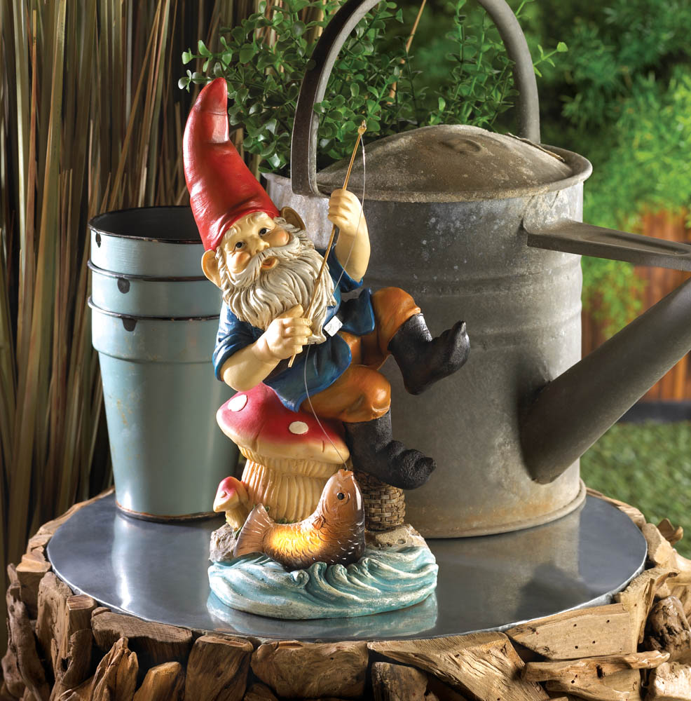 Wholesale Fishing Gnome Solar Statue For Sale At Bulk Cheap Prices!