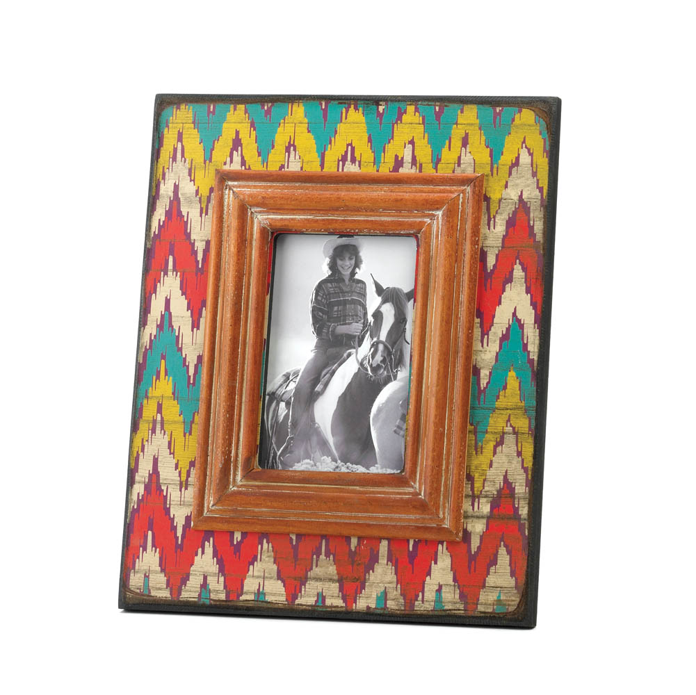 Wholesale Ikat Chevron Wood Photo Frame - Buy Wholesale Picture Frames