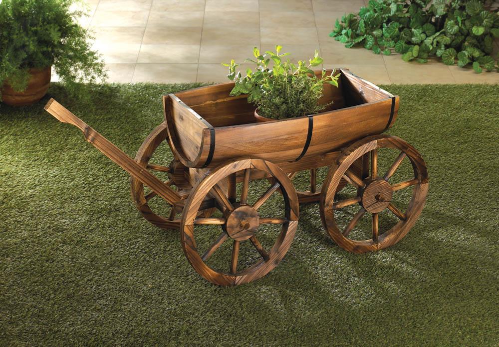 Wholesale Apple Barrel Planter Wagon - Buy Wholesale Garden Decor