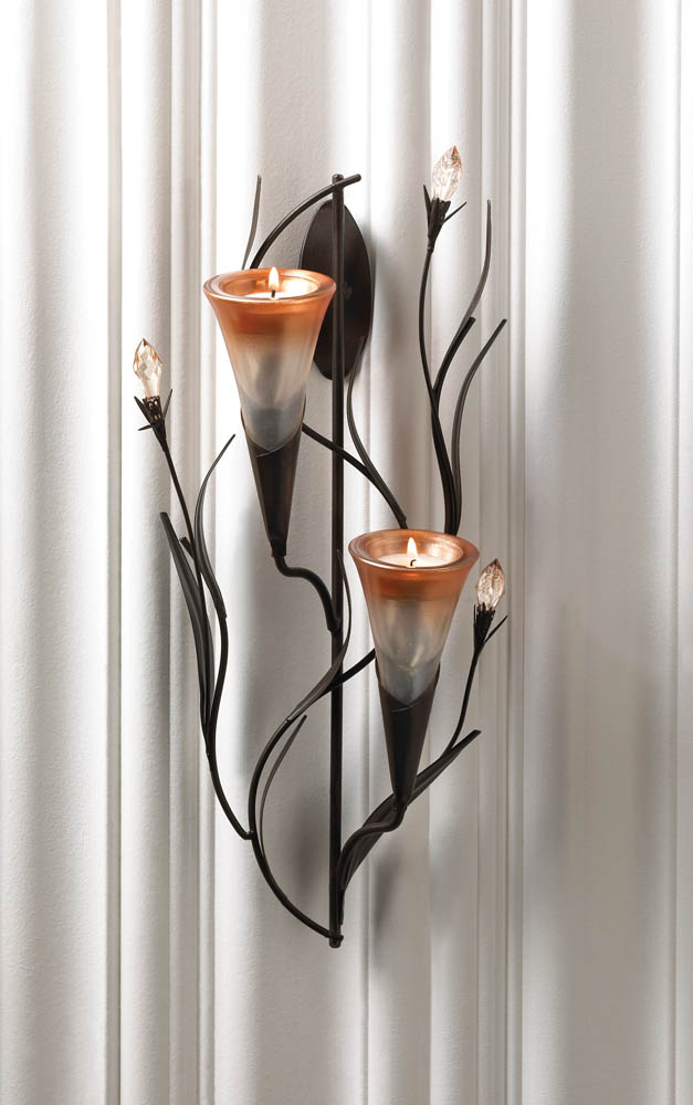 Wholesale Dawn Lilies Candle Wall Sconce Buy Wholesale Candle Sconces