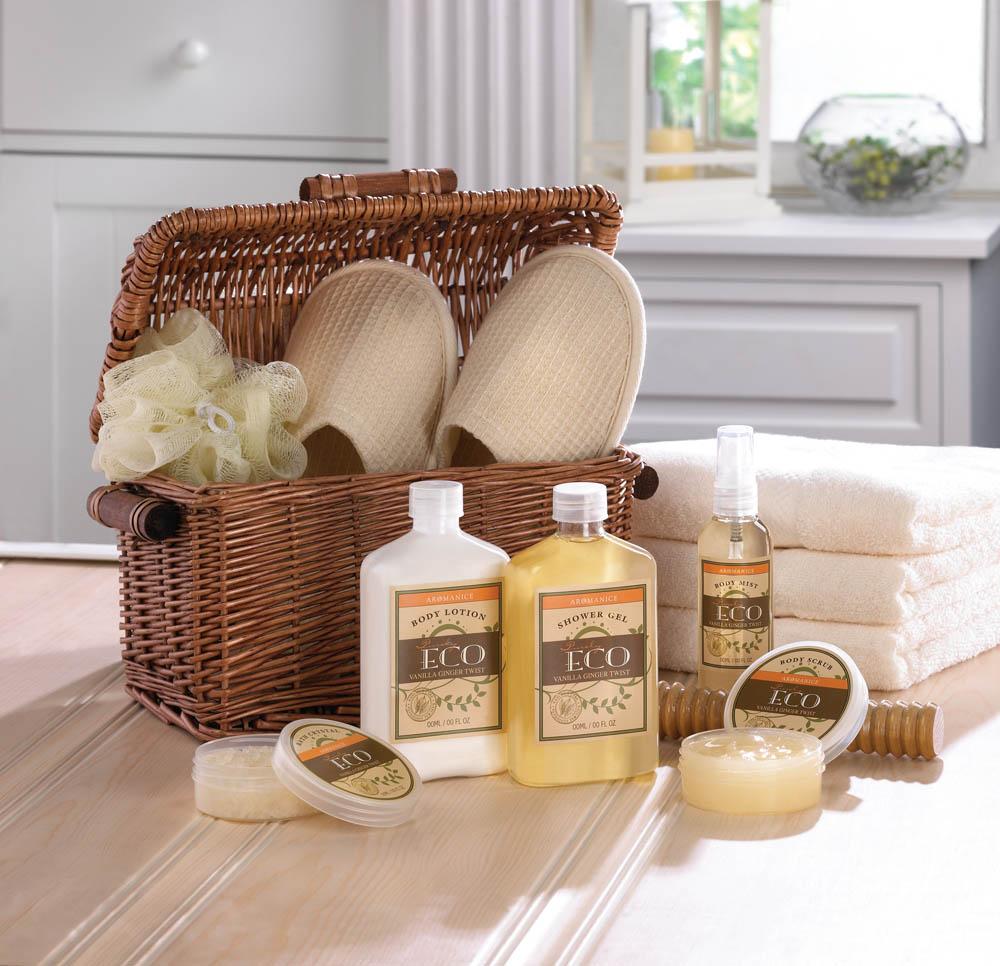 Wholesale Vanilla Ginger Spa Basket - Buy Wholesale Bath Sets