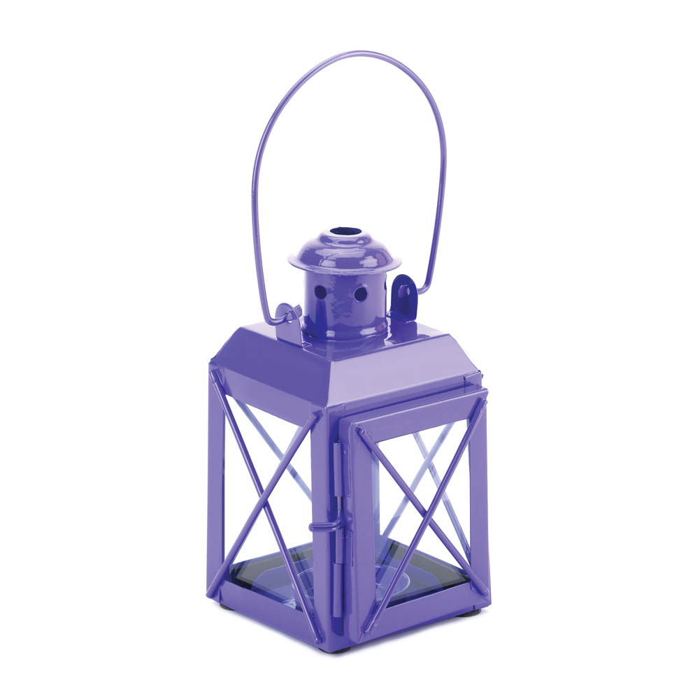 Wholesale Purple Railway Candle Lamp for sale at bulk cheap prices!