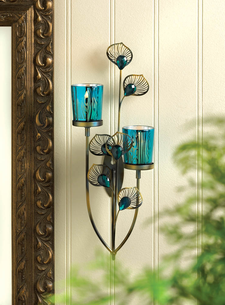 Wholesale Peacock Plume Wall Sconce