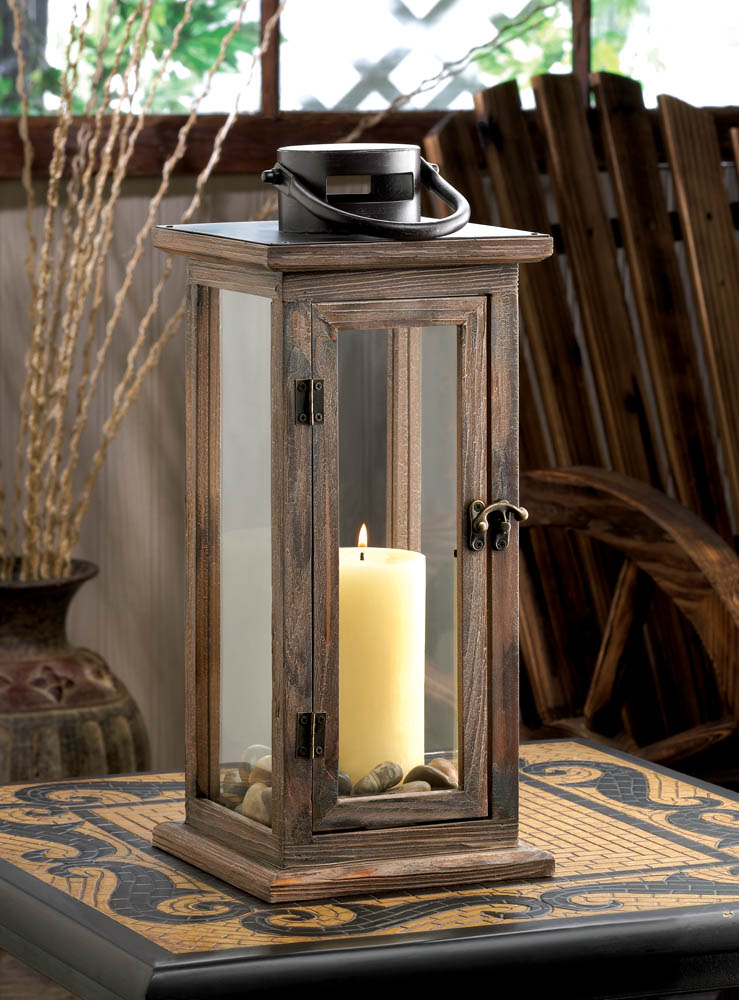 Wholesale perfect lodge wooden lantern buy wholesale for Cheap decorative items