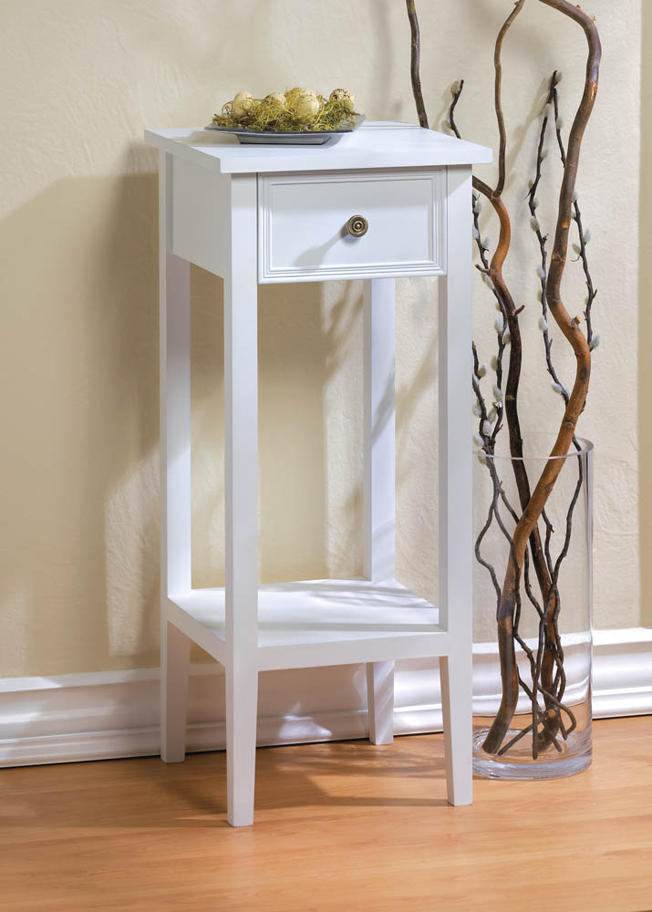 Willow White Side Table 10015981