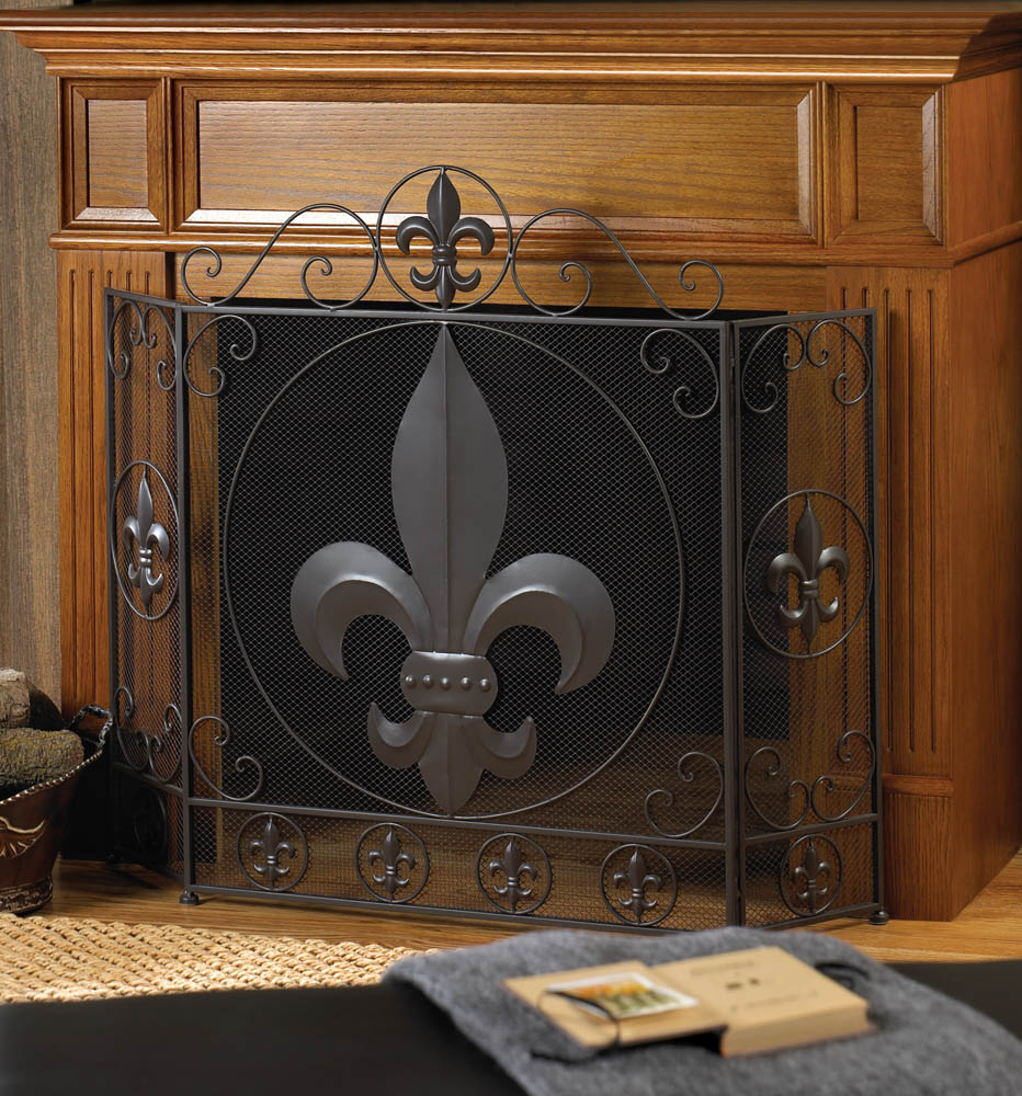 steel guards screen panacea leaf colonial pin fire spark indoor brown fireplace white screens oak