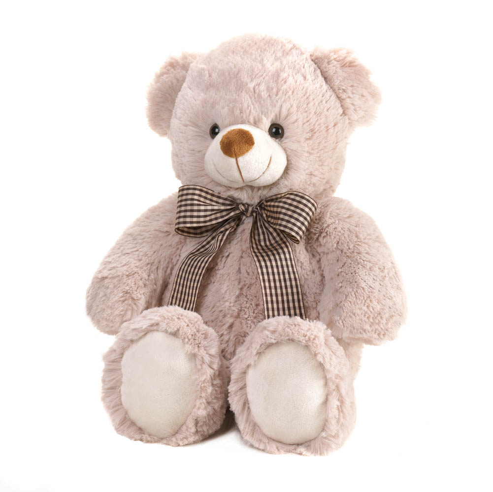 Wholesale Plush Fuzzy Beige Bear for sale at bulk cheap prices!